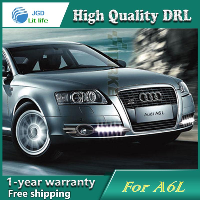 купить high quality daytime Running Light Fog light High Quality LED DRL case for Audi A6L 2005-2008 fog lamp 12V 6000K 2pcs/set онлайн