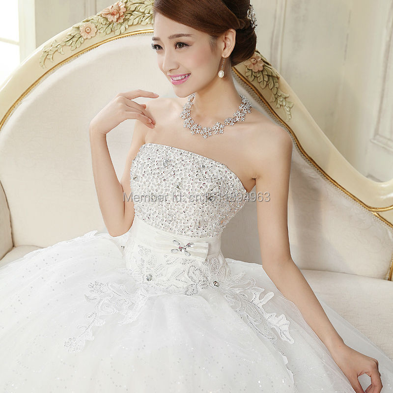 51d081a0fffe Hot Sale Cheap Wedding Dresses Under 100 From China White Glitter Tulle  Diamond Crystal Beaded Princess Ball Gowns for 15 Years-in Wedding Dresses  from ...