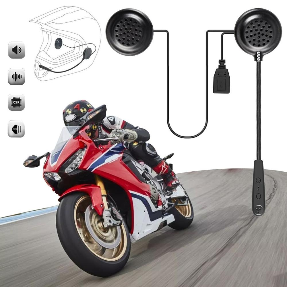 Wireless Motorcycle Helmet Headset E1 Csr Chip Automatic Answering Phone Music Comes With Power Amplifier