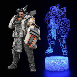 Image 4 - Luminous toys 3D illusion Led Lamp Apex Legends Action Figure Night Light Protector For Kids Present APEX toys For Gamers