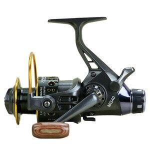 Image 3 - Doppio Disegno del Freno Mulinelli Super Forte Pesca Alla Carpa Alimentatore Bobina di Filatura Tipo di Ruota Che Gira Ruota Pesca MG