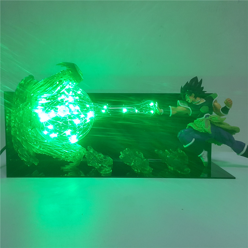 Dragon Ball Super Broly Figure Super Saiyan Led Light Anime Dragon Ball Z Broly Ultimate Soldier Figurines DBZ Toys for Children