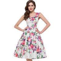 Belle Poque Women Summer Vintage 50s Dresses Audrey Hepburn Elegant Floral Vestidos Plus Size Robe Sexy