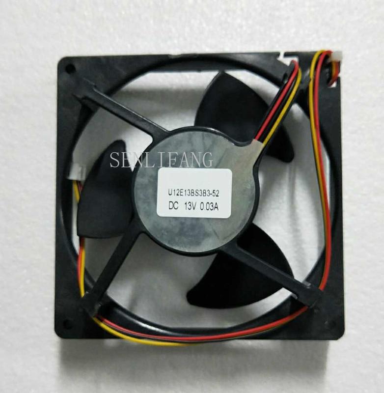 U12E13BS3B3-52 J23 DC 13V 0.03A 13CM Ball Bearing Refrigerator Waterproof Static Cooling Fan