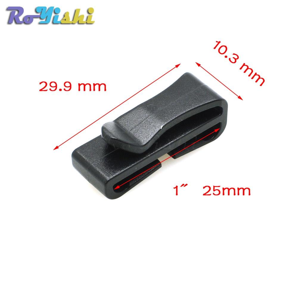 """50pcs/pack 1""""(25mm)Black Quick Slip Keeper Buckle clip Slider For Molle Tactical backpack Adjusting strap webbing"""