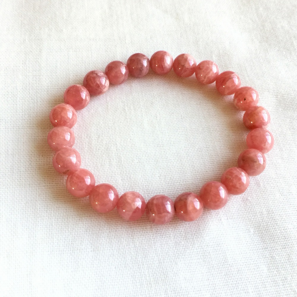 Genuine Natural Argentina Red Rhodochrosite Stretch Finished Bracelet Round beads 8mm Jewelry Beads Marriage Gemstone 05214 недорого
