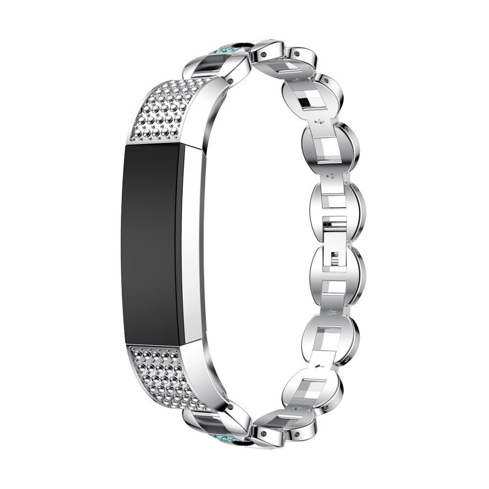Stainless Steel Replacement Watch Bracelet Band Strap with Rhinestones for Fitbit Alta