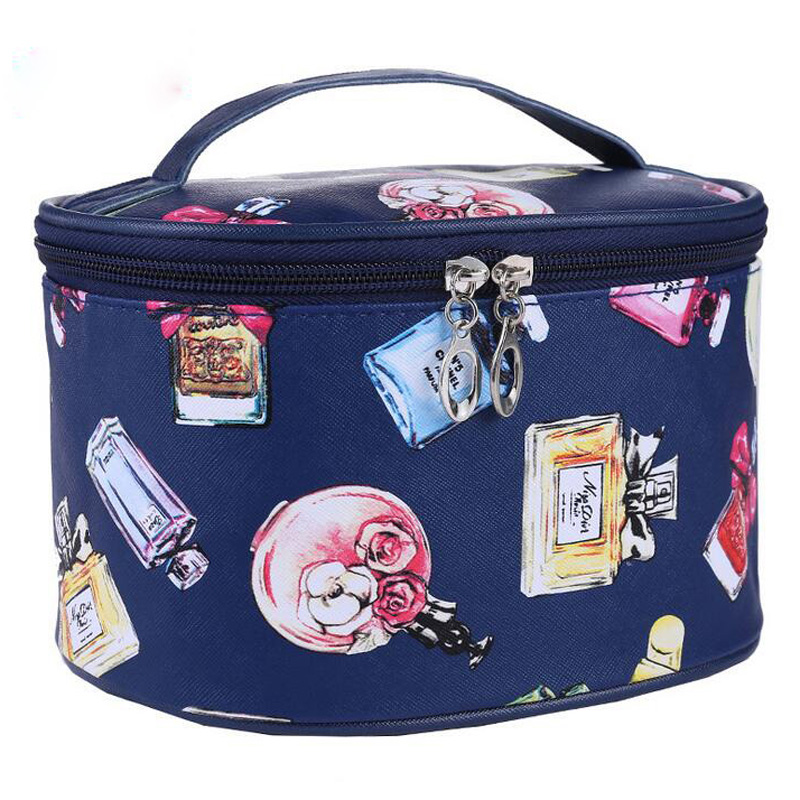 2017 New Fashion Brand Women waterproof Cosmetic Bags Make Up Travel Toiletry Storage Box Makeup Bag Wash Organizer Cases S027