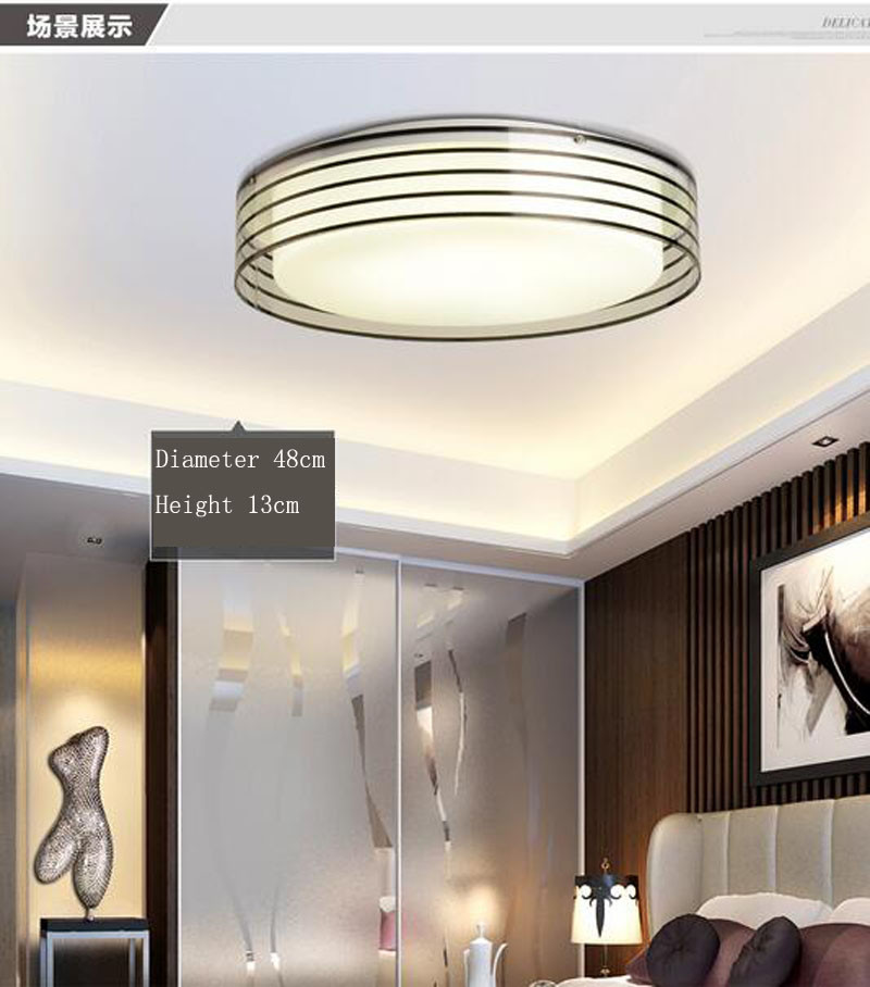 T Modern sample circular ceiling light 28W Acrylic Sweet LED indoor lamps for Bedroom home Diameter 48cm 3 Color temperature