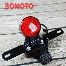 Moto d'epoca lampada LED posteriore luce di segnale freno luce piccolo tipo di freno posteriore luce per moto ad alte prestazioni