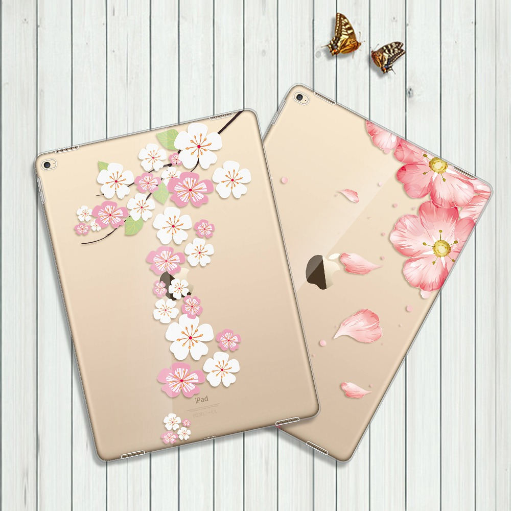 UTOPER Flower Cases For Apple ipad 234 Case Transparent Soft TPU Cover For iPad 2 3 4 Coque For iPad 2 3 4 Case For iPad 2 Case slim solid for ipad 2 3 4 case silicon soft shockproof transparent cover for ipad 2 ipad 3 ipad 4 case clear tpu tablet cover