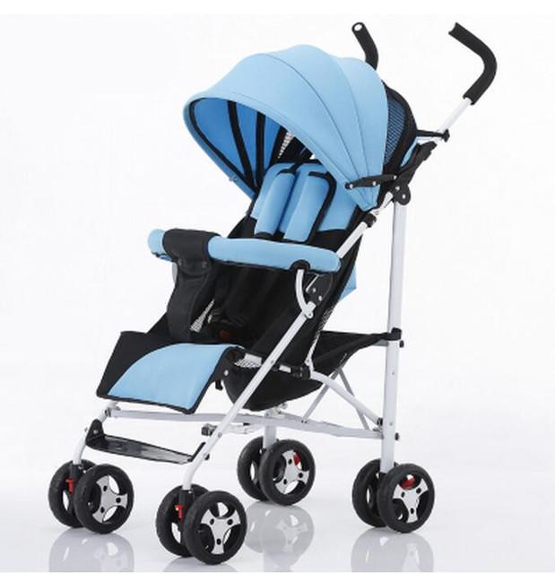 Venda quente de Alta Paisagem Carrinho de Bebê Dobrável Portátil À Prova de Choque de Carro Do Bebê Pode Sentar Mentindo Carrinhos e Carrinhos para Recém-nascidos C01