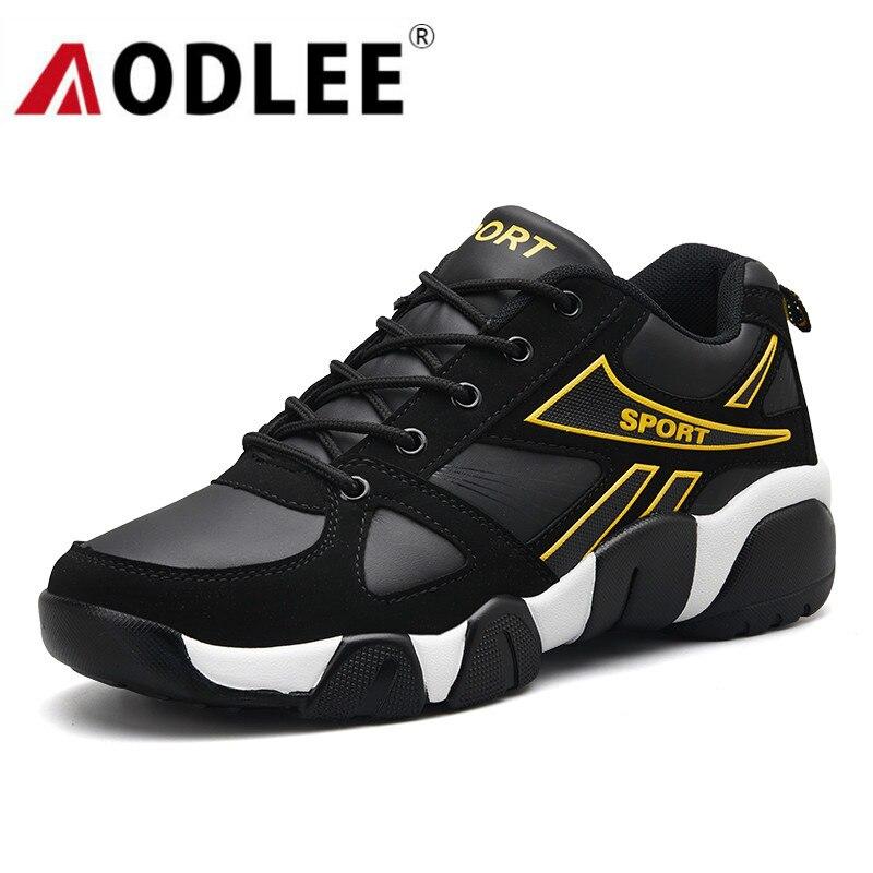 Aodlee tênis para homens casuais sapatos de couro casal dos homens casuais respirável tênis formadores tenis masculino adulto