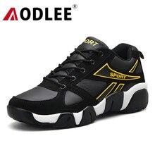 Aodlee のための革のカップルメンズ靴カジュアル通気性の男性トレーナー tenis masculino adulto