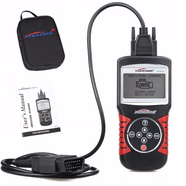OBDII KW820 EOBD Automotive Errors Code Reader Scanner Diagnostic OBD2 Scanner Tool Universal
