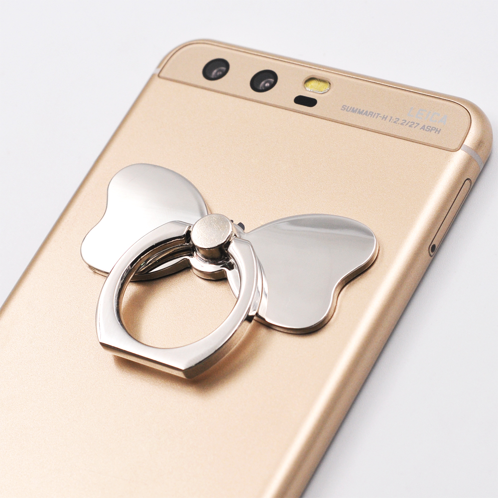 Butterfly Knot Phone Holder Metal Finger Ring 360 Degree Rotation Stand For iPhone X 7 Plus Samsung Xiaomi Mobile Kickstand