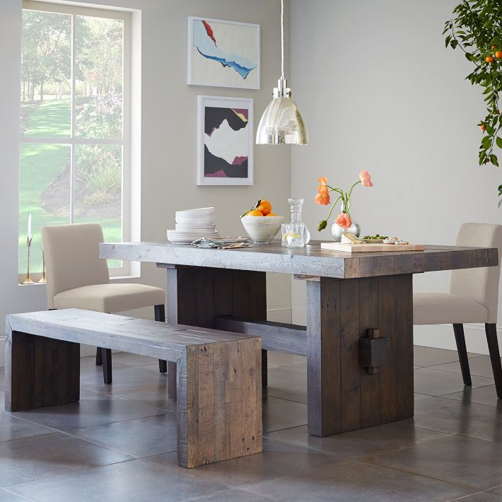 American Village Loft Old Pine Retro Dinette New Zealand Craft Furniture Dining Table Conference