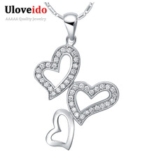 Coronary heart Pendant Necklace Wedding ceremony Joias de Prata 925 Jewellery Ladies Modern Pendants Created Diamond Woman Present Ulove N732 Haixv