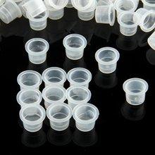 200 Пластиковые средние татуировки Чернила чашки колпачки-держатели поставки