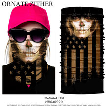 3D Sport Bicycle Magic Bandana Outdoors Ciclismo Ski Balaclava Neck Warmer Sugar Skull Half Face Mask Bandana Headband Women Men(China)