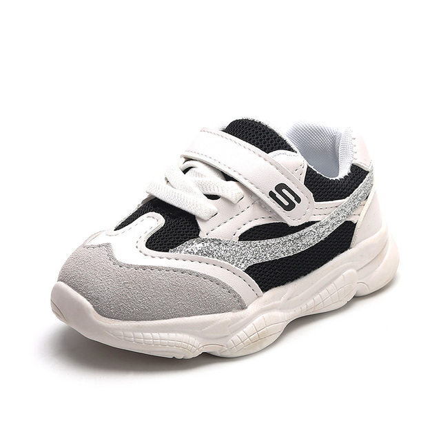 Fashion Suede Leather Baby Kids Sports Shoes Letters Striped Little Boys Girls Sneakers Children Casual Running Shoes 1823