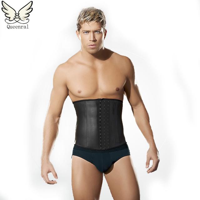 Homem shaper masculino cinto fino cintura trainer trainer cintura látex cincher cintura espartilhos para o Vestuário dos homens homens cinto de emagrecimento do corpo