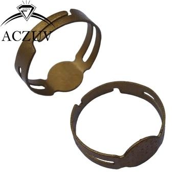 1000pcs Antique Bronze 8mm Glue Pad Adjustable Ring Pad Base Blanks Findings Gold Glue Diy Rings Make Components TJZT053