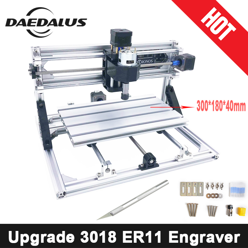 CNC3018 ER11,DIY Mini CNC Engraving Machine,Pcb Milling Machine,Wood Router,Laser Engraving,CNC Router GRBL Control,Craved Metal