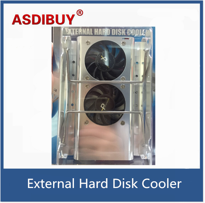 100% brand new practical metal silver 3.5inch SATA IDE Hard Disk Drive HDD 2 Fan Cooler for PC/ DVR HDD new cctv accessories 4000gb 3 5 inch hard disk 4tb 7200rpm 128mb sata internal hdd for desktop dvr recorder cctv system sk 243