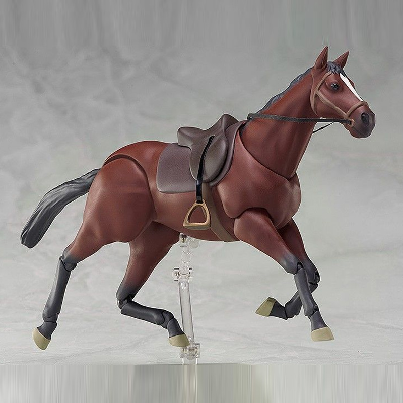 Anime Cartoon Horse Chestunt Action Figure Model Toy Collection Kids Movable Joint Action Toys AN88