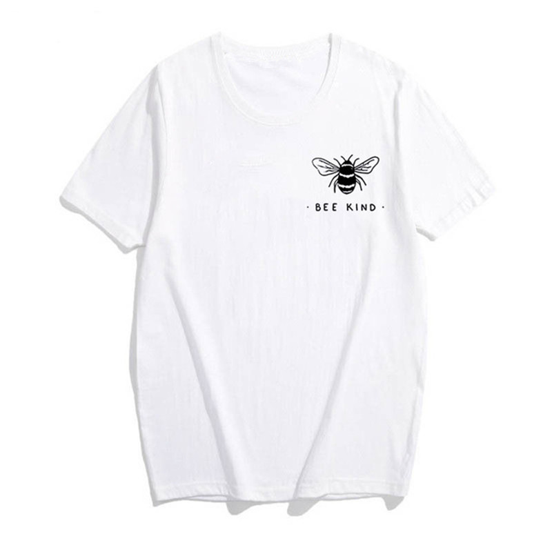 Bee Kind Pocket Print Tshirt Women Save The Bees Graphic Tees Girls Summer Tumblr Outfit Fashion Top 5