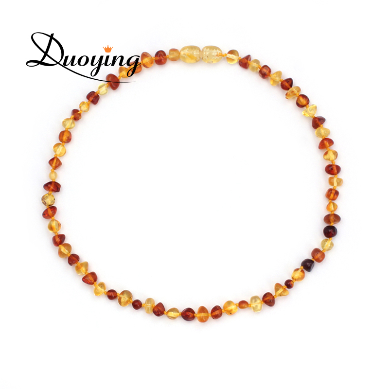 DUOYING Brand 9 Colors Precious Ambar Stones Baby Mom Gifts Certificate Authenticity Genuine Baby Adult Baltic Ambar Necklace