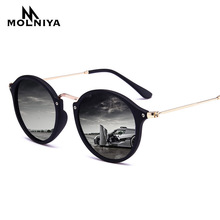 2019 New Arrival Round Sunglasses Retro Men women Brand Designer Sun glasses Vintage coating mirrored Oculos De sol UV400 все цены
