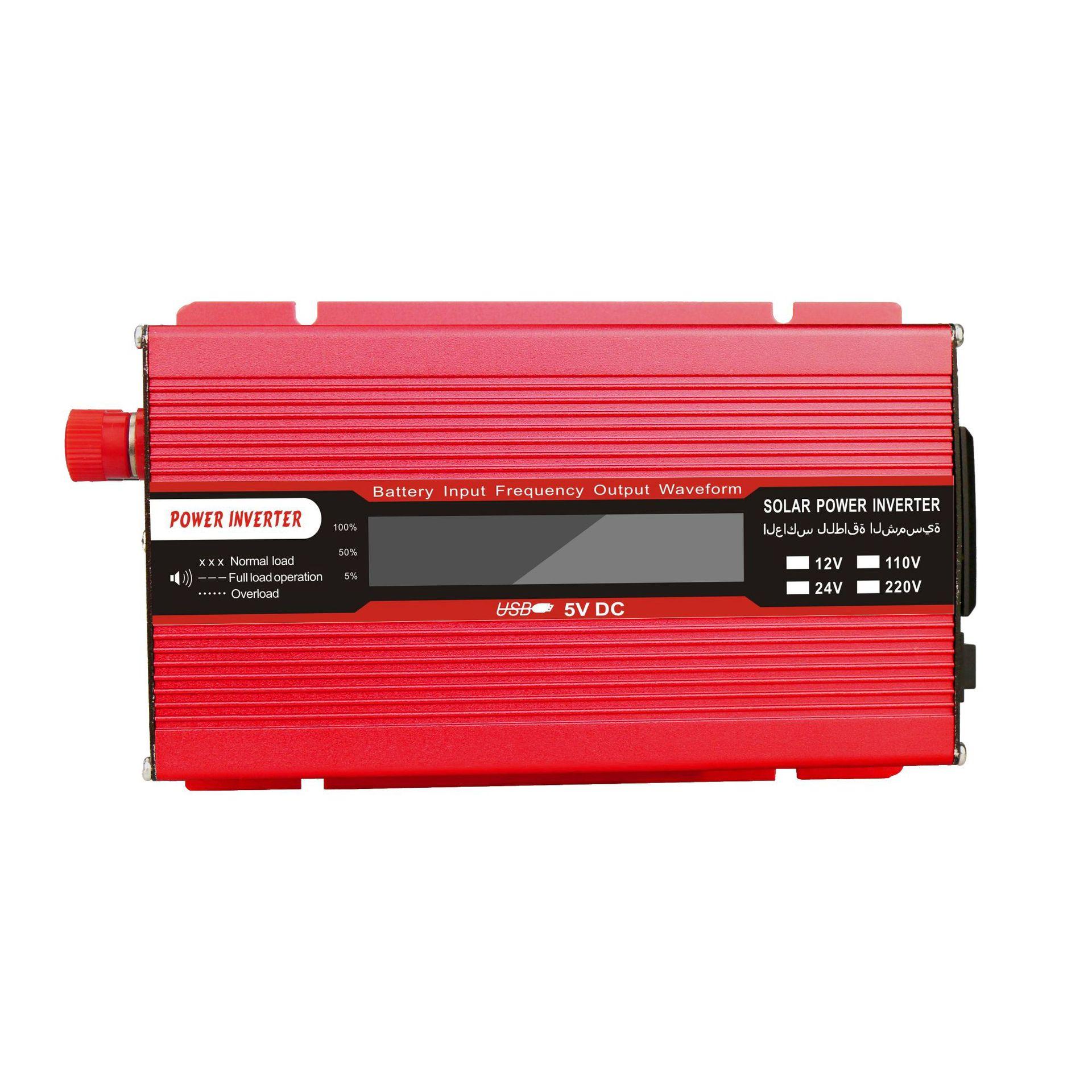 1500w Solar Inverter Multifunctional Travel Power Supply Control USB Car inverter DC 12V AC 220V LCD