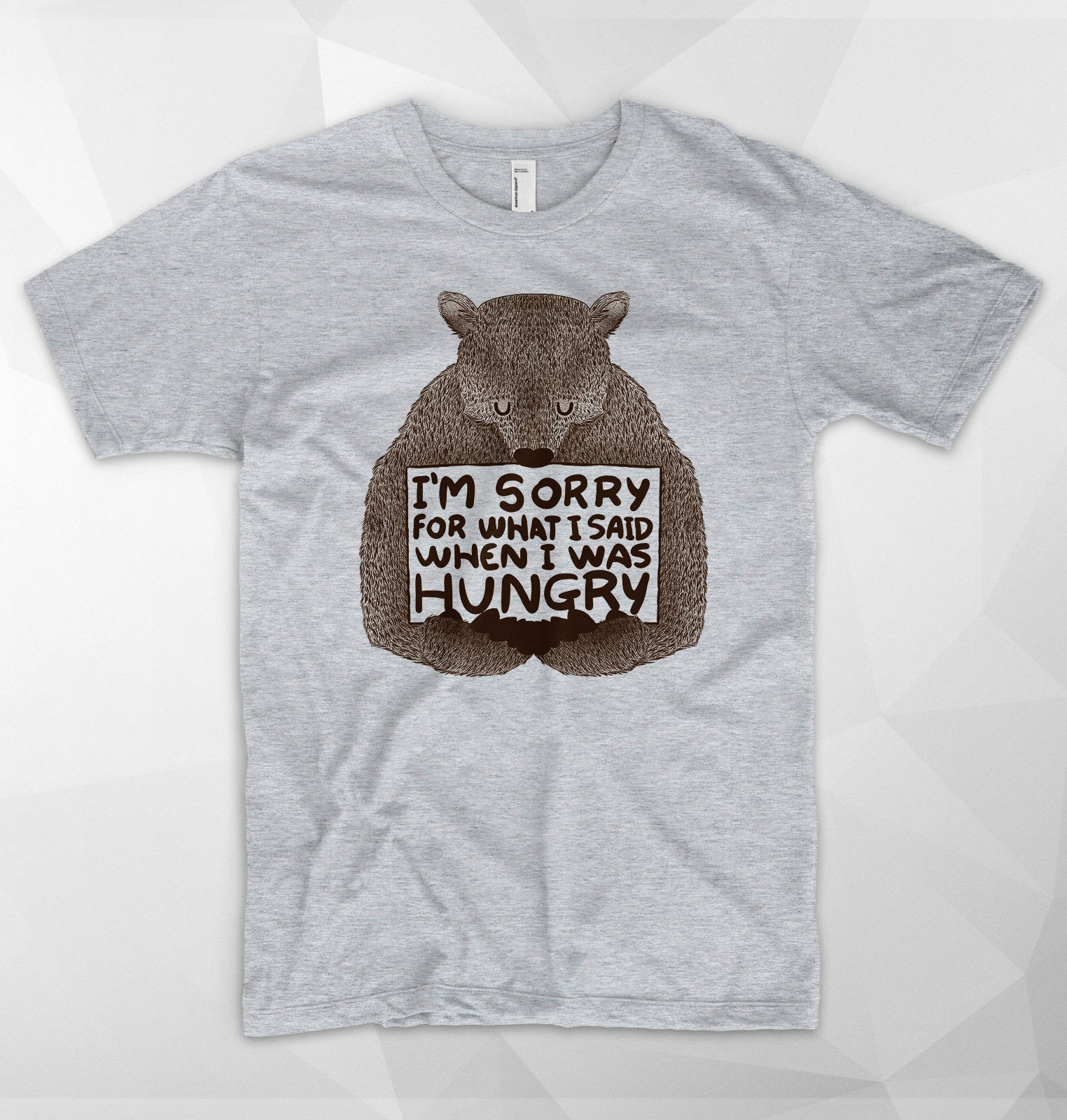 Im Sorry Fot What I Said When I Was Hungry T Shirt Bear Christmas Gift Novelty