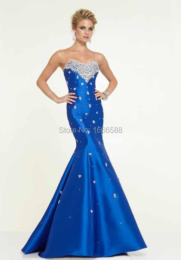 5a8b28c65da37 Free Shipping OC 184 Sweetheart neckline fitted royal blue mermaid ...
