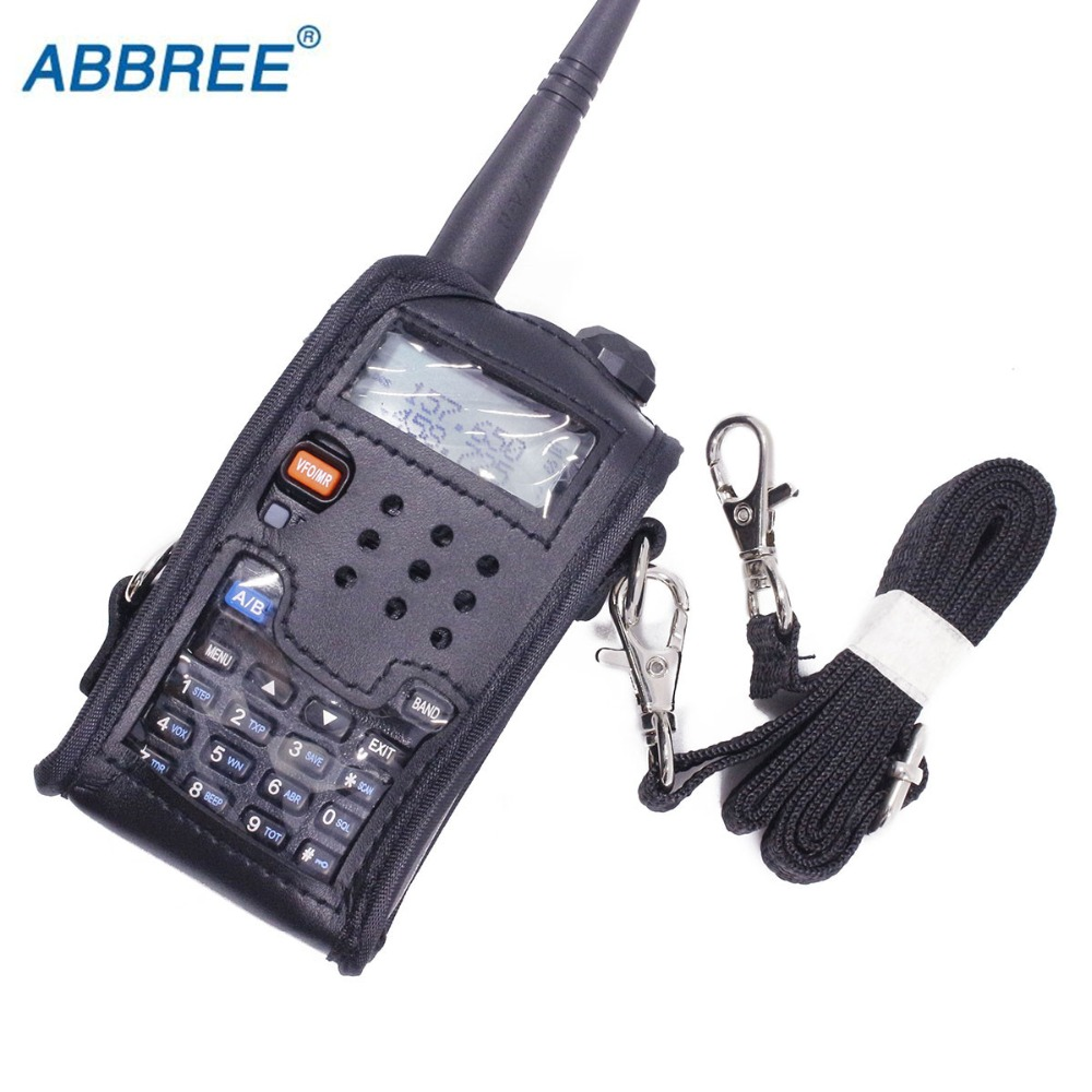 Talkie Walkie En Cuir Couverture Molle Pour BAOFENG UV 5R Portable Ham Radio UV-5R UV-5RA Plus UV-5RE Plus UV-5RB RONSON UV-8R