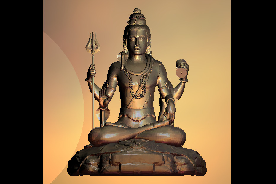 3D Model Indian God Statue For CNC Router Printer Artcam Aspire Type3 STL Format File M443