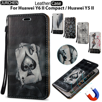 JURCHEN Case For Huawei Y5 II Case Silicone Flip Case For Huawei Y6 II Compact Cover