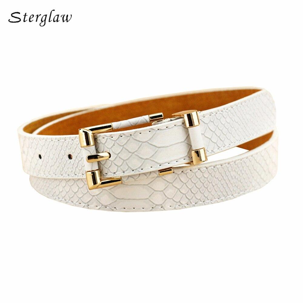 Hot Classic Crocodile Pattern Female Belt Jeans For Women 2020 Russian Fashion Casual Snakeskin Slimming Belts Women's U102