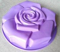 XG006 Big Size 29*5.8cm Rose Flower Shape Silicone Cake Mold Silicone Cake Pan Kitchenware DIY Mold