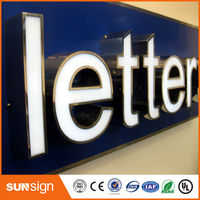 Custom Stainless Steel Back Water Resistant Advertising LED Channel Letters Sign