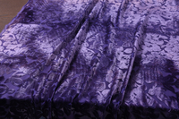 HH Purple Blue Burnt out Really Soft Velvet Drape Fabric Hollow Out Silk Velve for Dress 114*100 cm