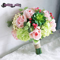 Rose succulent  Hydrangea wedding flower bride bouquet bruidsboeket  bouquet de mariee