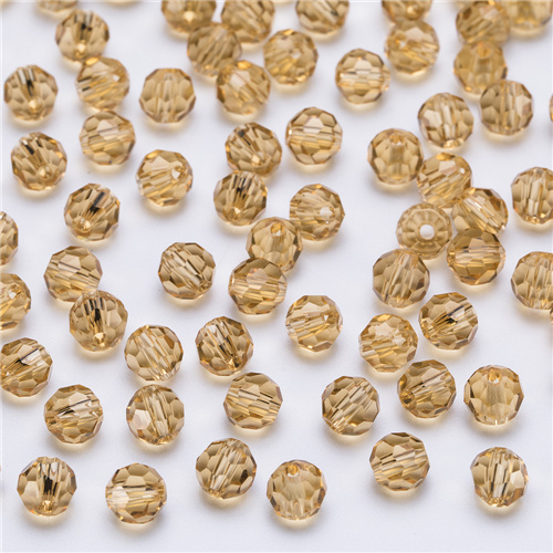 3, 4, 6, 8 мм разноцветные Круглые Стеклянные бусины для изготовления ювелирных изделий, аксессуары для рукоделия, Круглые граненые разделительные бусины, Z105 - Цвет: Z115 champagne