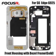 Original Middle Frame  For Samsung Galaxy S6Edge G925 Mid Bezel Metal Housing Chassis With Parts Replacement + Side button