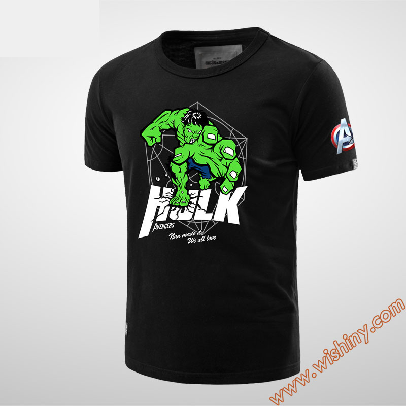Black Superhero Hulk T-shirt Black 2xl Tees