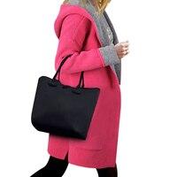 Plus Size Women Woolen Hooded Cardigan Pocket Split Slim Sweater Fashion Long Sleeve Loose Jumper Autumn