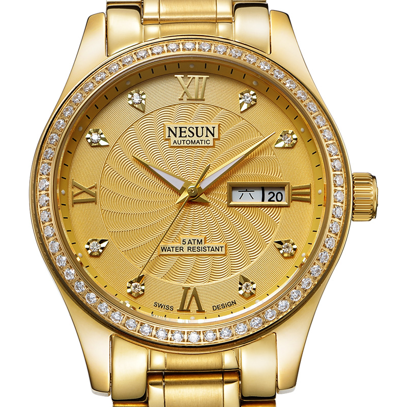 Swiss Brand NESUN Men's Watch Automatic Self-winding