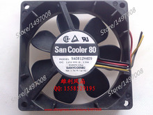Free Shipping For Sanyo 9A0812H409  DC 12V 0.13A 3-wire 80mm, 80x80x25mm  Server Square fan